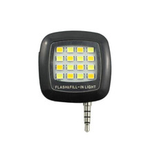 Black Useful Portable Smartphone Phone Selfie Mini 16 LED Flash Fill Light For IOS Android 2016 New(China (Mainland))