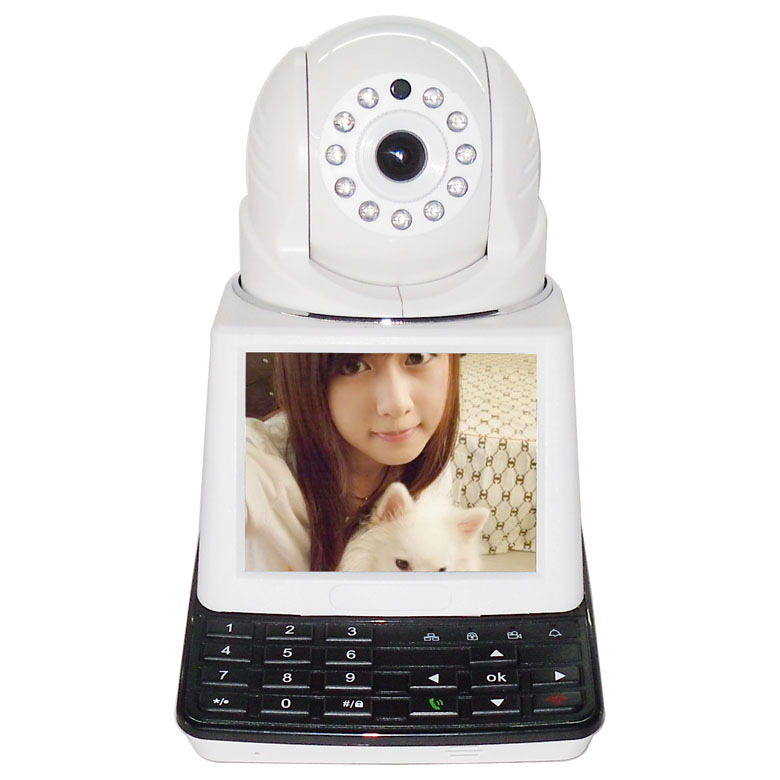 New Generation Wireless/Wired Network Video Phone Security Camera AIO Machine, Support iOS/ Android App(China (Mainland))