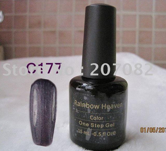 Nail Care Nail Polish no base no top LED soak off one step gel nail polish UV GEL C177COLOR 15ML