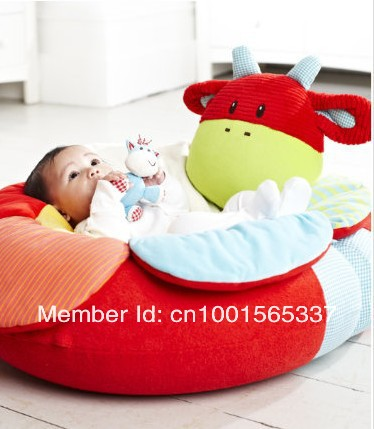 In Stock High Qulity Free Shipping ELC Blossom Farm Sit Me Up Cosy-Baby Seat,Red Cow Play Mat/Small Baby game pad Come with Pump