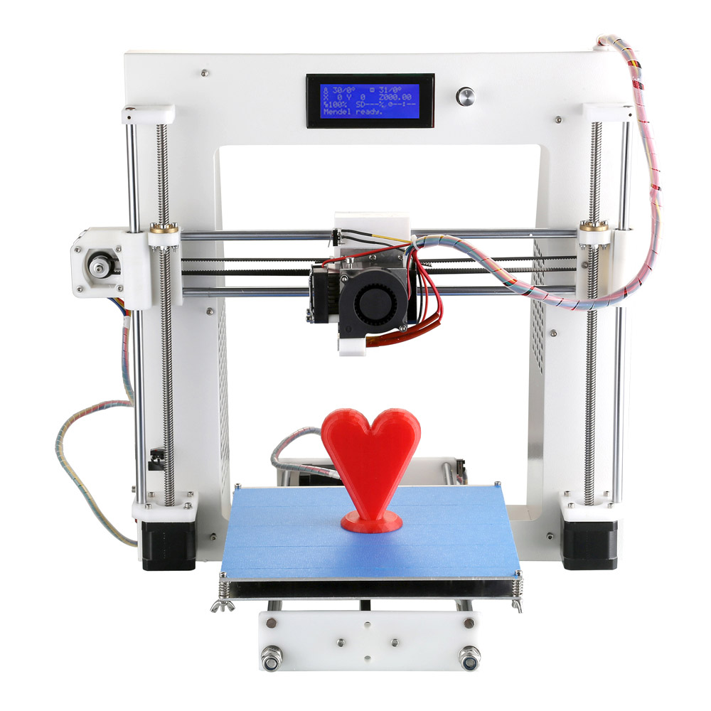 New High Precision Impressora Reprap Prusa I3 Desktop 3d Printer Machine Diy Kit Card Slot Lcd