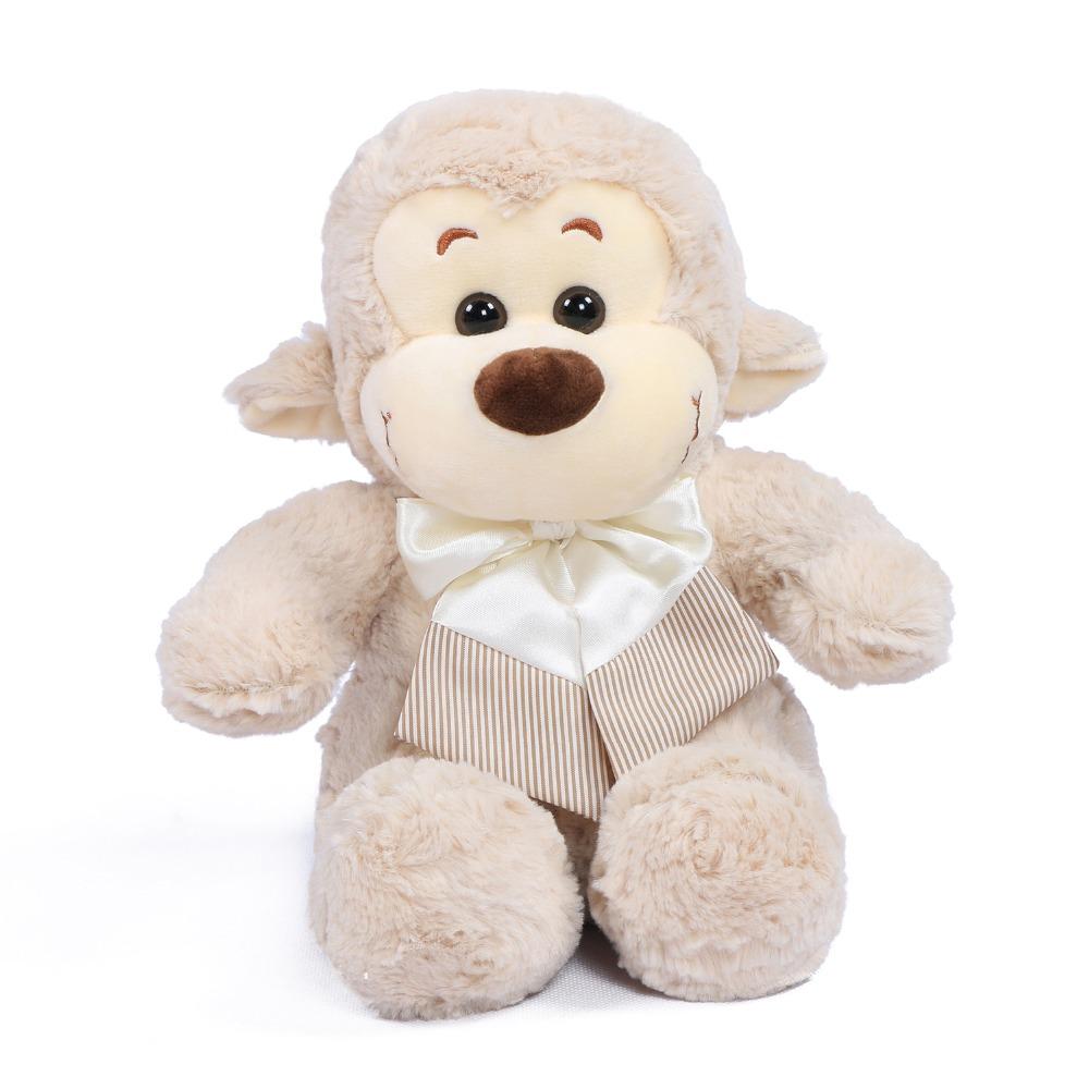 "JOYFAY 2016 New 11"" Small Light Grey Stuffed Monkey 25cm Plush Toy Birthday Christmas gift Christmas gift(China (Mainland))"