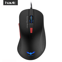 HAVIT HV-MS745 2800 DPI 4 LED Lights USB Optical Wired Gaming Mouse with 6 Button For PC Laptop Desktop Computer Mouse Gamer(China (Mainland))