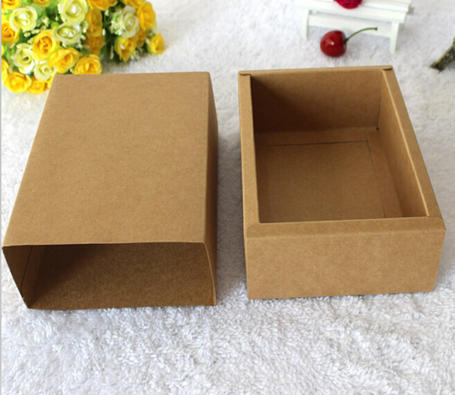 Qin.01.11/175*95*40mm Rectangle Kraft Paper Boxes For Candy Egg Tart Party Gift Soap Candle Pack Brown Craft Paper Packaging(China (Mainland))