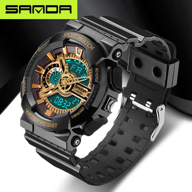 2016 new listing fashion watches men watch waterproof sport military G style S Shock watches men's luxury brand(China (Mainland))