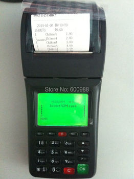 Mobile POS Terminal for Prepaid Airtime Top Up Supports USSD STK GPRS and SMS