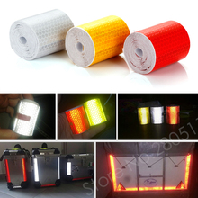 Reflective Tape 5*300cm Car Styling Safety Warning Material Motorcycle Cycling Car Stickers For Renault Ford Toyota Bmw Vw Lada(China (Mainland))
