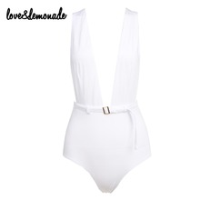 Buy Love&Lemonade Sexy White Halter Belt Decoration Bodysuits TB 9203 for $18.99 in AliExpress store