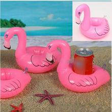 Fashion Pink Flamingo Inflatable Drink Can Bottle Holder Swimming Bath Party Beach Kid Toy(China (Mainland))
