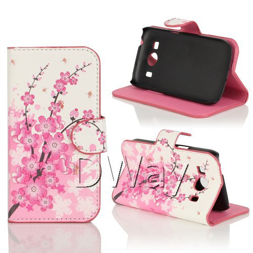 Flower Printing PU Leather Wallet Book Flip Cover Case Samsung Galaxy Ace 4 Style LTE G357FZ Stand Phone - DWay Technology Co.,Ltd store