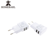 Buy HOMEBARL Universal EU USA US Plug Adapter 2 USB Ports Travel AC Power Charger Adaptor White Phones New Wall Charger 1B6 for $1.59 in AliExpress store