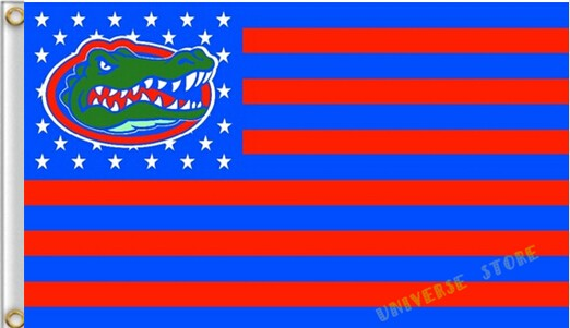 3X5FT NCAA Florida Gators Flag US stripes banner Free Shipping custom flag 100D Digital Print(China (Mainland))