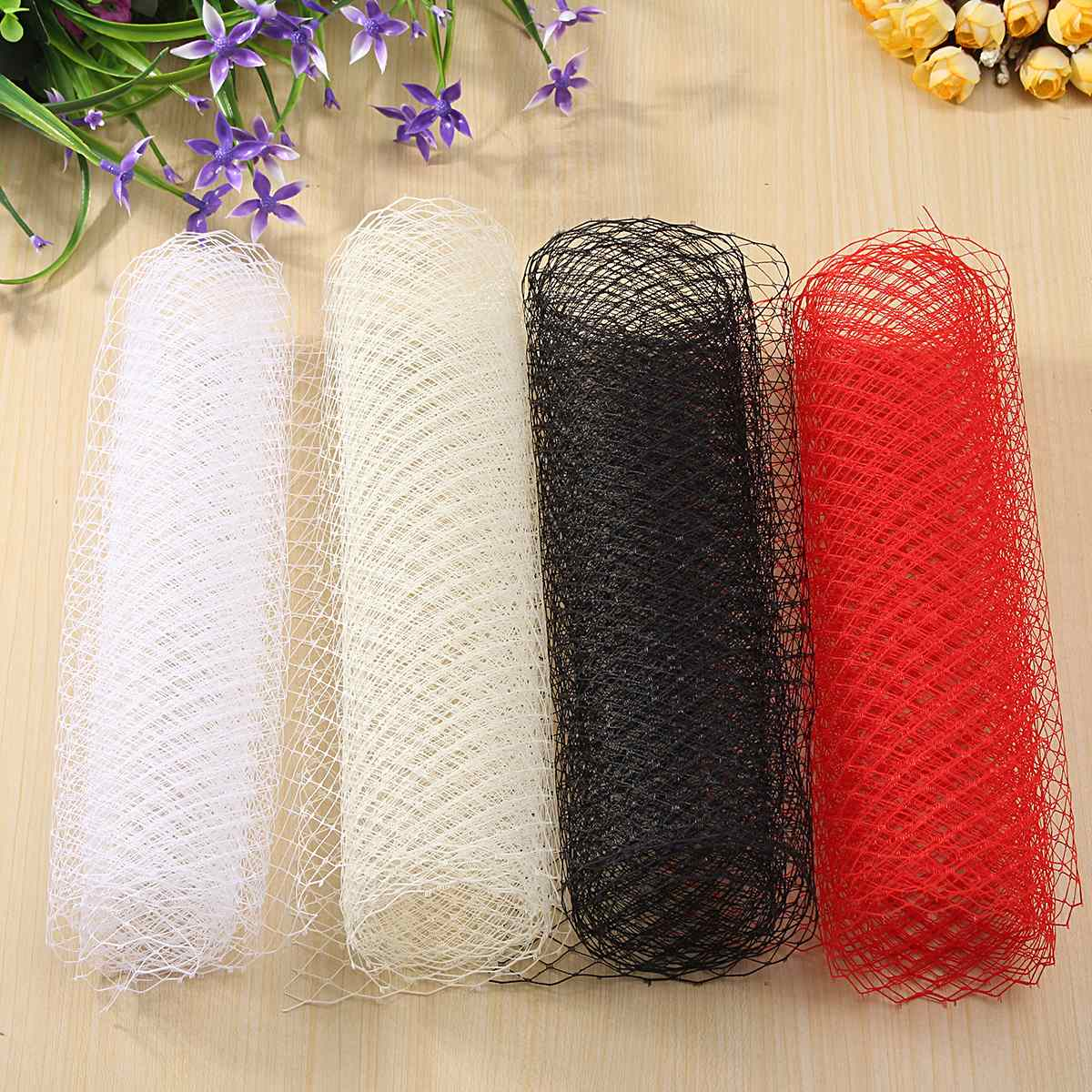 Yarn Fabric For Veil Mesh Wedding Cloth Hat Mesh DIY Sewing Beige White Black Red Millinery Clothes Craft DIY Material 200x26cm(China (Mainland))