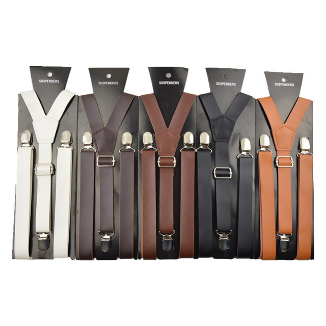 2016 моды для мужчин кожа подтяжки пояса Кожа Кожа PU является высокотехнологичным ...
