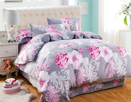 Reactive Printing BEDDING 4pcs Bedding Set duvet cover set queen king size QUILT COVER SET(China (Mainland))