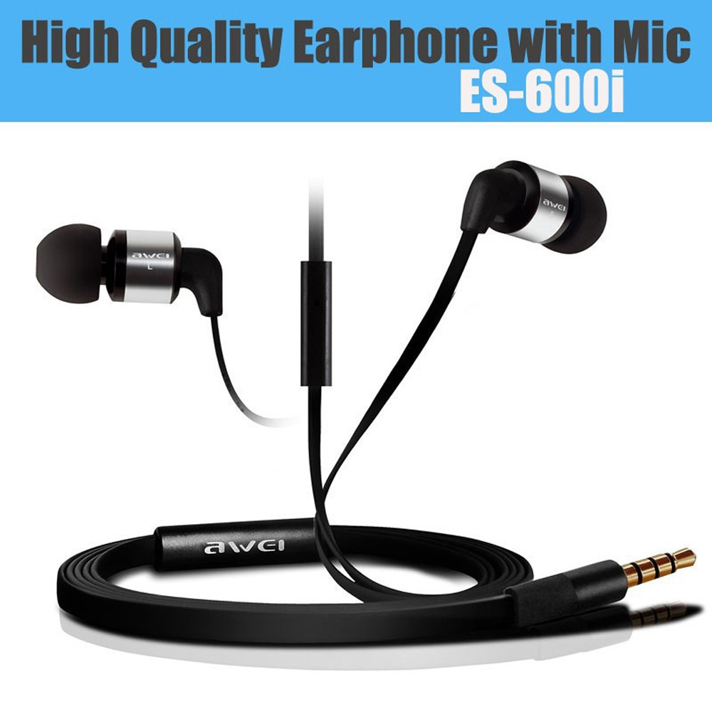 Hot Stereo fone de ouvido Earphone With Microphone for Xiaomi iPhone MP3 MP4 Player New Brand audifonos Original Awei ES-600i(China (Mainland))