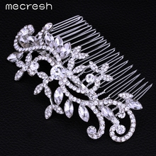 Mecresh Leaf Crystal Bridal Wedding Jewelry Hair Accessories Hair Combs Crown Tiara Hot Selling FS001(China (Mainland))