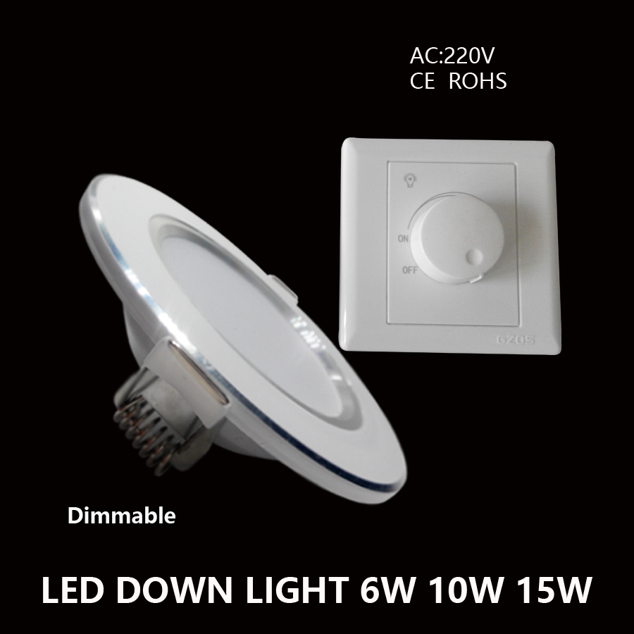 Dimmable Led Downlights 6W 10W 15W 220V LED Ceiling Downlight 5730 Lamps Led Ceiling Lamp Home Indoor Lighting No regulator(China (Mainland))