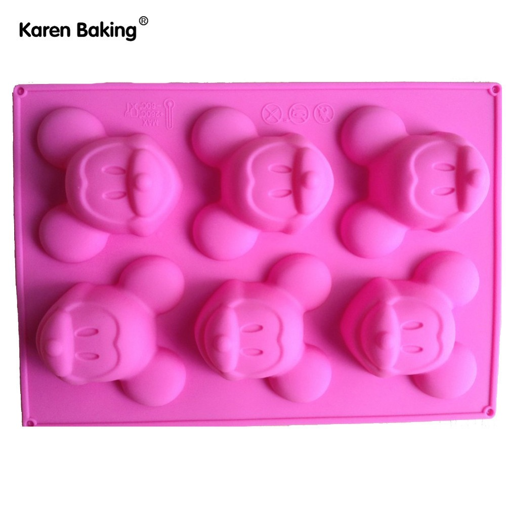 Mickey Mouse Silicone Cake Muffin Molds Cupcake Pan Soap B022(China (Mainland))
