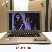New 14inch In-tel J1900 Laptop PC Computer Notebook Windows7/8 Qual Core 8G+1TB HDD Wifi tablet USB3.0/2.0 HDMI Free Shipping(China (Mainland))