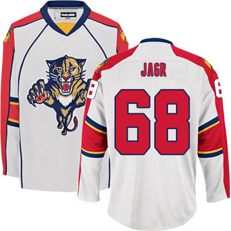 Men's stithced cheap Jaromir Jagr jersey 68 Away White ICE hockey Jerseys(China (Mainland))