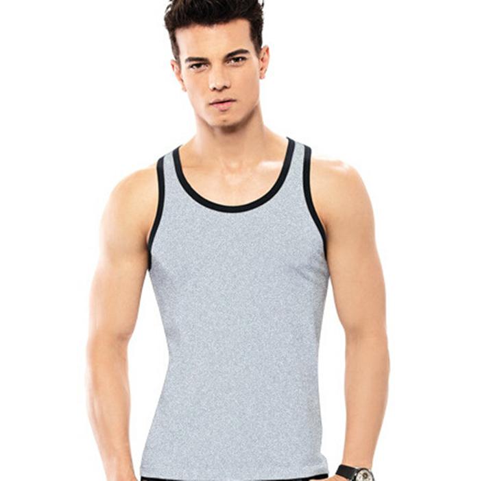 buy men fashion 100 cotton gym tank tops sport undershirt fitness black white. Black Bedroom Furniture Sets. Home Design Ideas