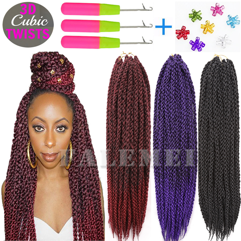 Extensions Ombre Braiding Crochet Hair Senegalese Twist Box Braids ...