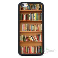 For iphone 4/4s 5/5s 5c SE 6/6s plus ipod touch 4/5/6 back skins mobile cellphone cases cover Bookshelf
