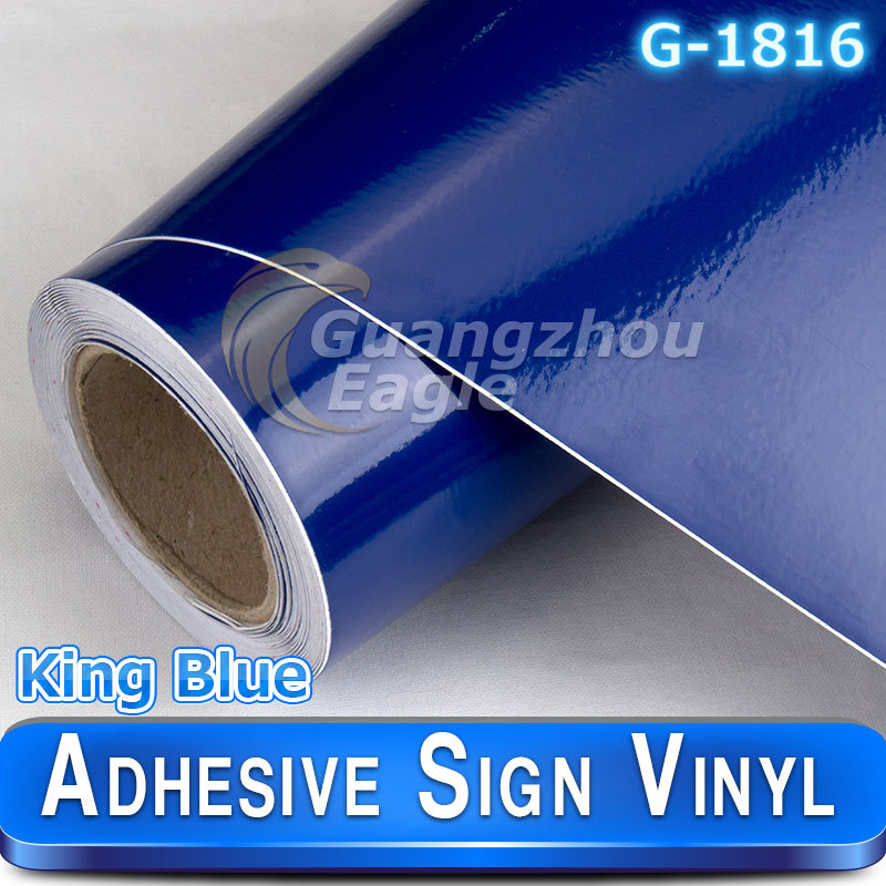 Glossy King Blue sign Cutters sign vinyl plotter vinyl printer cutter 1.06*33 m/roll Free Shipping(China (Mainland))