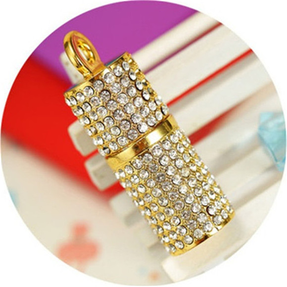 Hot selling mini diamond column necklace USB 2.0 flash memory stick - high speed special offer / Wholesale/1GB-64GB S53(China (Mainland))