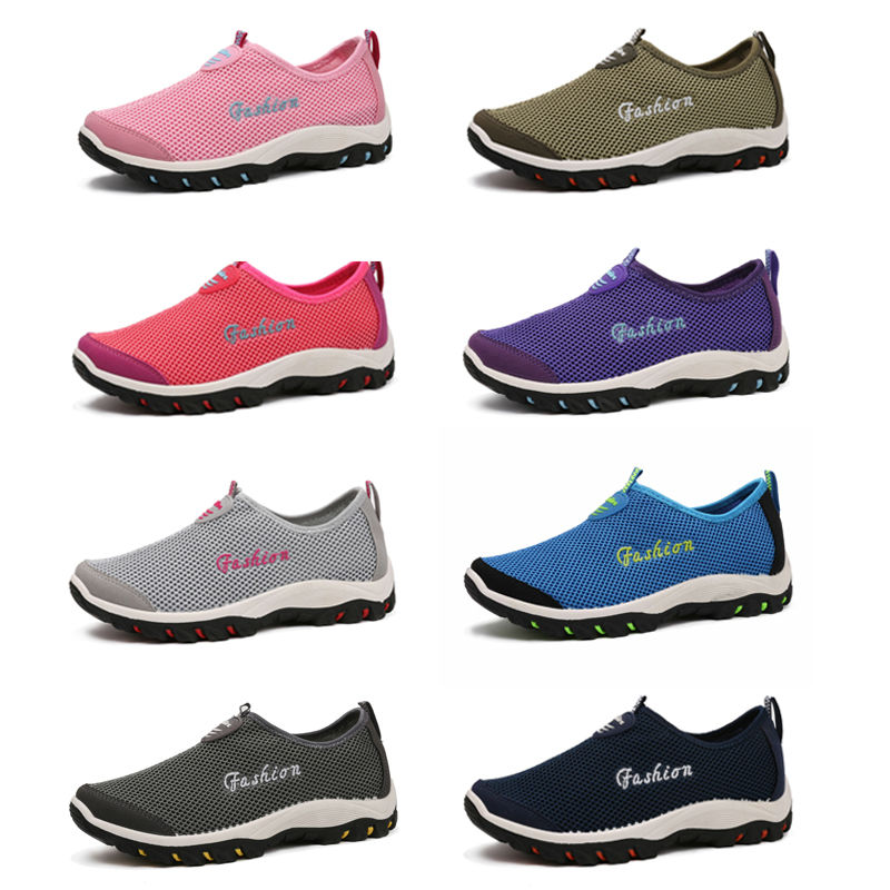 2016 Causal Shoes Hot-selling Men Women Mesh Slip-on Spring Shoes Coupon Comfortable Network Shoes Size 39-47(China (Mainland))