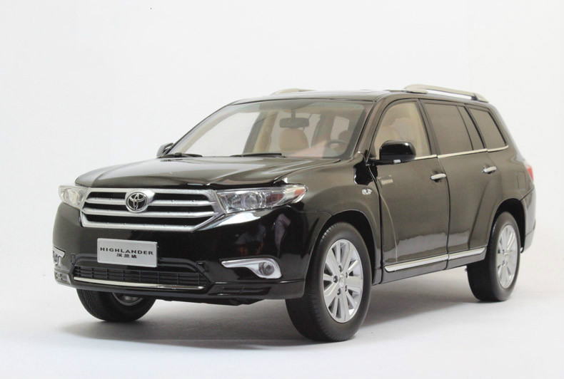 1:18 Die cast Model Car Toy For Gental TOYOTA HIGHLAND SUV Alloy Scale Model Toys Gift Display Collection(China (Mainland))