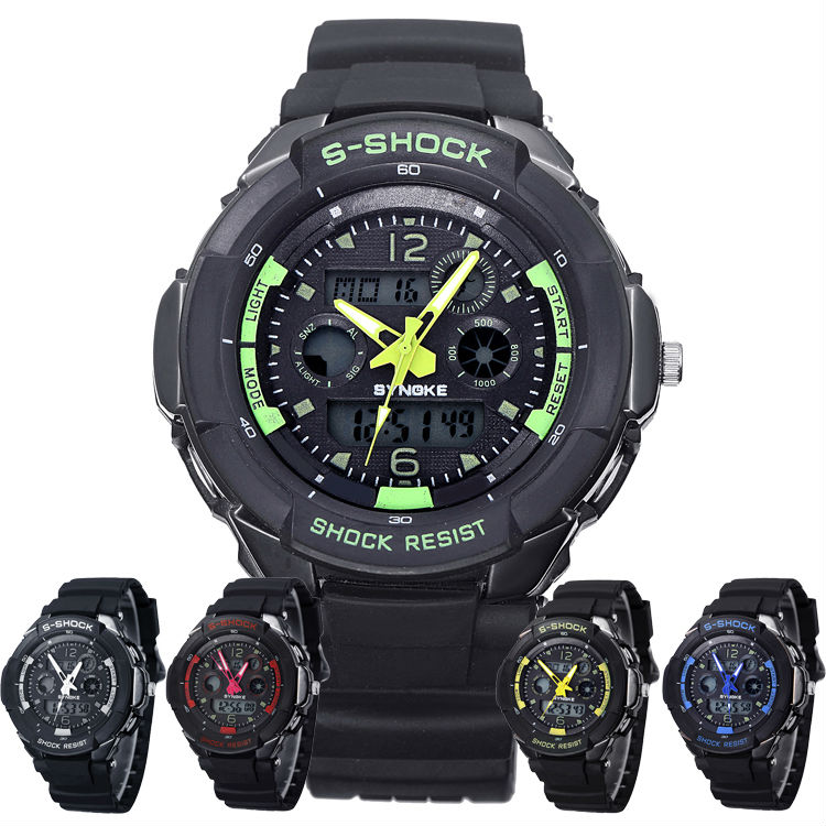 s shock movement analog digital waterproof