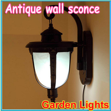free shipping Outdoor solar lights outdoor wall lamp antique European garden lamps / energy-saving decorative(China (Mainland))