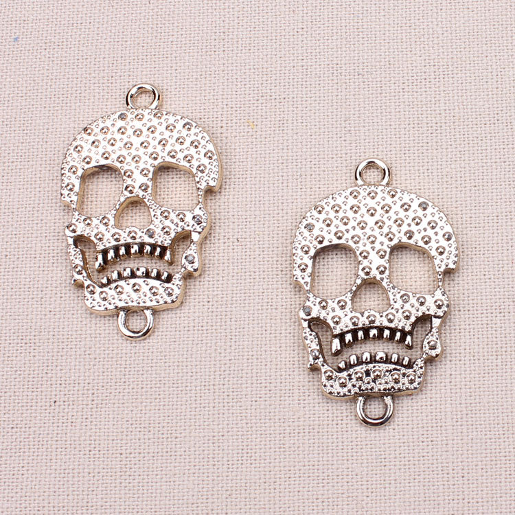 10pc/lot Vintage Gothic Antique gold skull Charm Necklace Retro Zinc Alloy Pendants Fitting DIY jewelry making - MEIBEADS-Diy Jewelry Making Supplies Store store