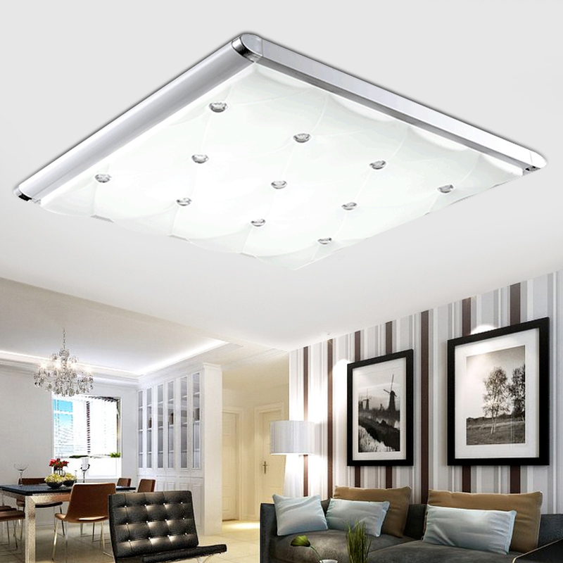 3 Color Dimming Led Ceiling Light 650x380mm Living Room Lights Modern Brief Bedroom Ceiling Lamps Rectangle Indoor Lighting(China (Mainland))