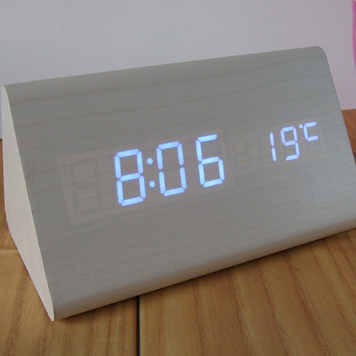 best high end alarm clocks thermometer wood wooden led