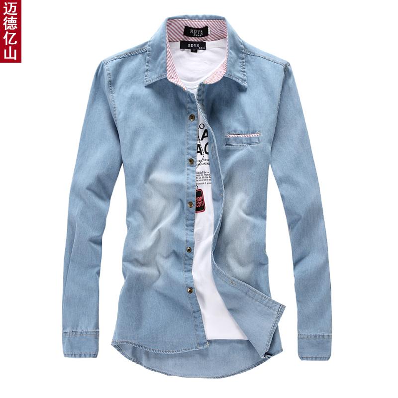 Men S Casual Calvin Denim Shirt For Men Clothing Mens Slim