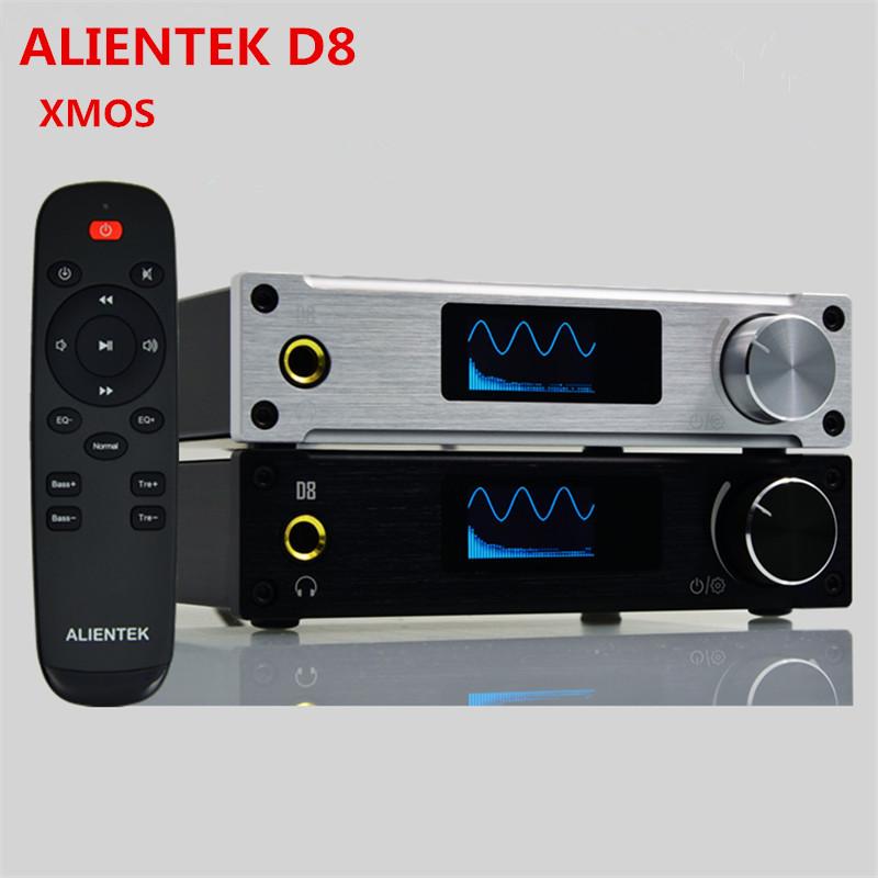 XMOS ALIENTEK D8 80W*2 Mini Hifi Stereo Audio Digital Headphone Amplifier Coaxial/Optical/USB DAC Class d Amplifier+Power Supply(China (Mainland))