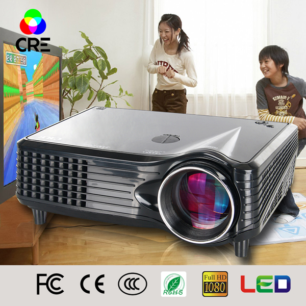 smart HD portable mini home theater systems mobile phone ledprojector chinese av video projector looking for distributor CREX300(China (Mainland))