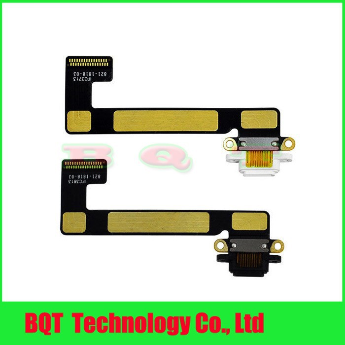 Replacement For ipad mini 2 USB Dock Charger Port Connector Charging Flex Cable Black/white 100% Guarantee Free shipping(China (Mainland))
