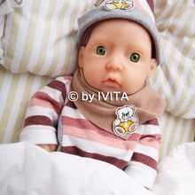 IVITA 850g 11inch font b Hair b font Painted So Cool Lovely FULL BODY SILICONE Reborn