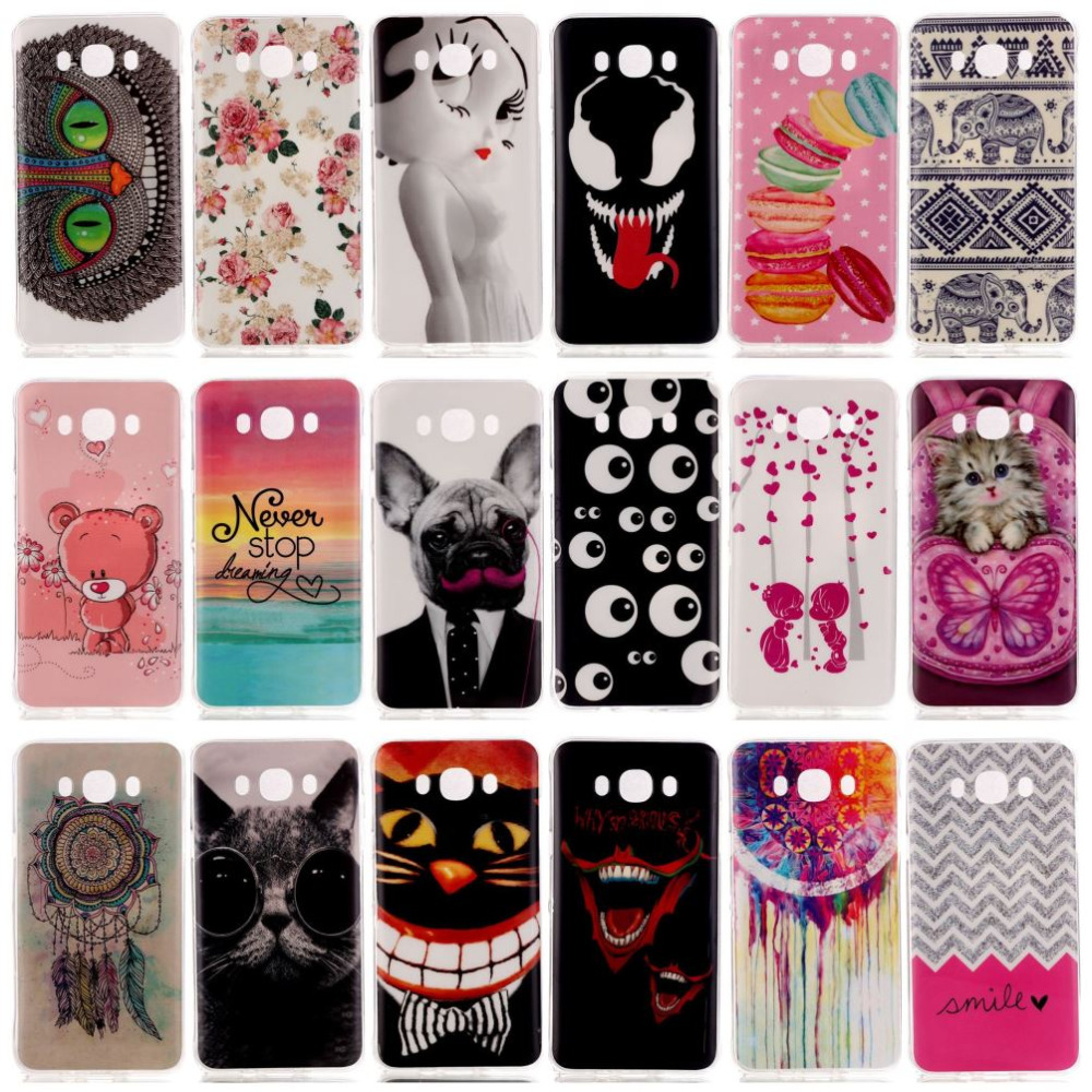 New Soft Beautiful Pattern TPU Case For Samsung Galaxy J5(2016) J510 J510x Mobile Phone Rubber silicone Bags Back Cover Cases(China (Mainland))