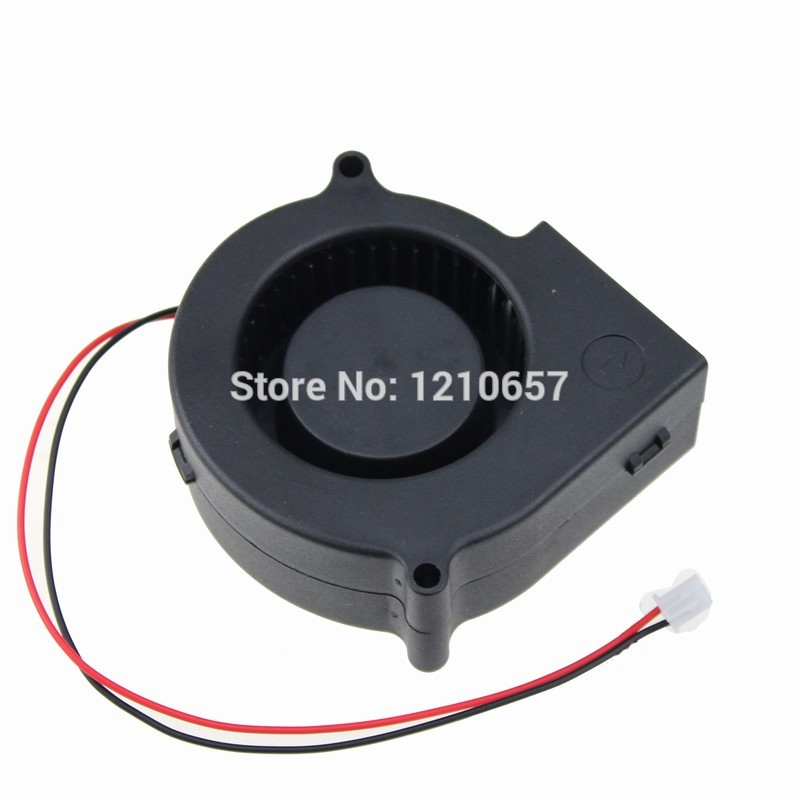 2 pieces LOT GDT DC 12V 2Pin 75mm 75x30mm 7530s Air Flow Cooling Blower Fan(China (Mainland))