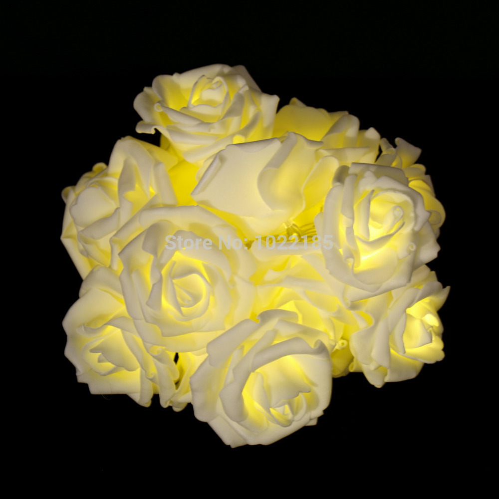 20LED Rose Flower Fairy Wedding Party Christmas Decoration String Lights wholesale sale Hot(China (Mainland))