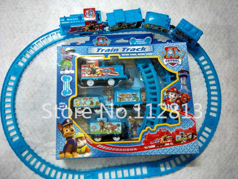 New Arrival Puppy Patrol dogs Patrol electric Toys Patrol/Big heros/Elsa Electric Rail Train Track Toy For Kids(China (Mainland))