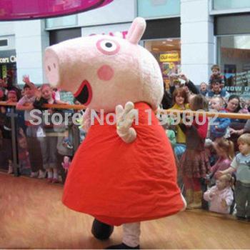 Hot Pig Mascot Costume, Pig Cartoon Costume,Pig Mascot Adult Costume Free Shipping(China (Mainland))