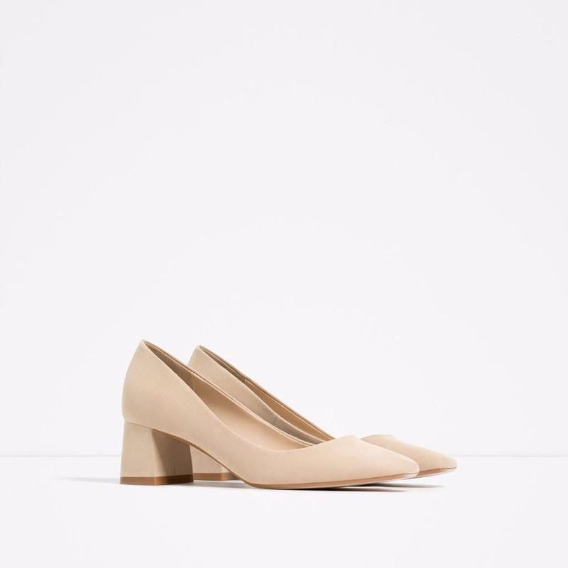 Full Season Shoes Woman Casual Women Pumps 5 CM Square Toe Low Heels Shoes Big Size Square Heel  Nubuck Leather Bowtie Shoes