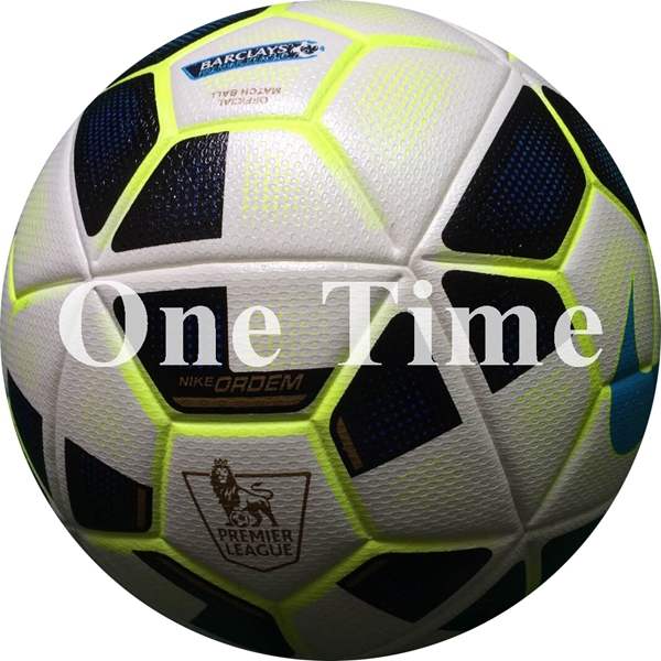 Hot Sale 2014-2015 Premier League Football PU Granule Slip-resistant Ball Official Weight Size 5 Soccer Ball For Match Training(China (Mainland))
