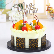 Buy 1 pc Birthday Cake Flag Banner Mr & Mrs Cake Topper Baking Cupcake Cake Decoration Rhinestone Bling Wedding Decor Party Supplies for $2.04 in AliExpress store